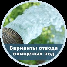 Варианты отвода очищенных вод